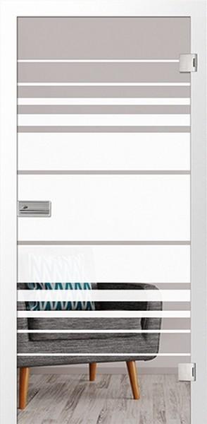 Ganzglastür Selina Motiv matt, ESG 8mm von Erkelenz