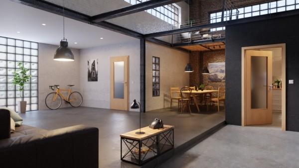 DuriTop Rotbuche hell Zimmertür mit Lichtausschnitt | Optima 30 Innentür von Jeld-Wen