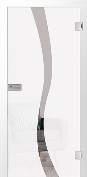 Ganzglastür Bergamo Motiv klar, ESG 8mm von Erkelenz