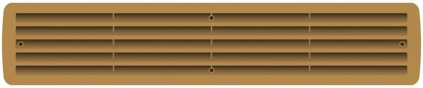 Lüftungsgitter für Tür | Buche - braun 44 x 8 cm