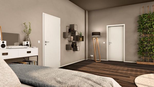 DuriTop Uni Weißlack Zimmertür | Optima 30 Innentür von Jeld-Wen