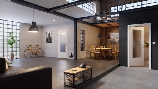 DuriTop Uni Weißlack Zimmertür mit Lichtausschnitt | Optima 30 Innentür von Jeld-Wen